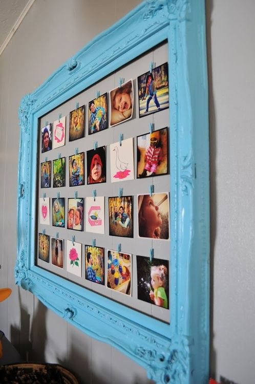baby photos, creative frame, instagram prints