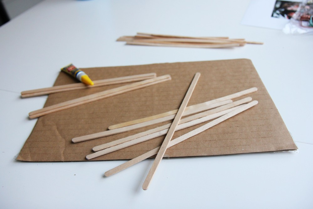 lolly sticks and super glue