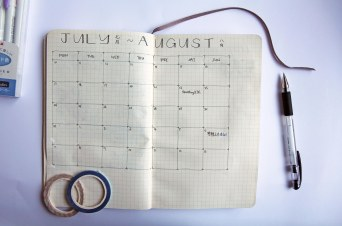 monthly spread july/aug