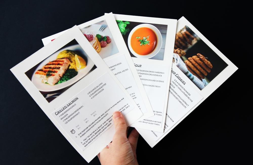 Photo recipe cards