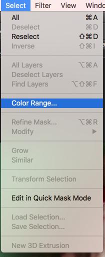Selecting Colour Range