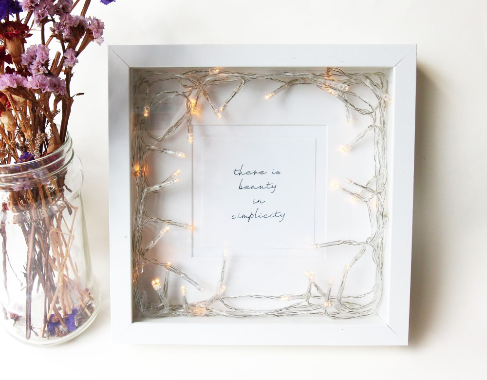 fairy light photo frame