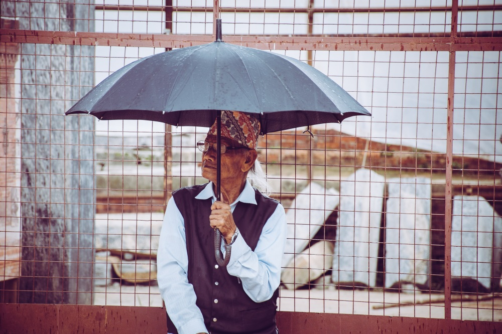include your umbrella in your shots