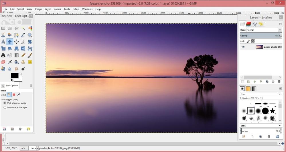 GIMP editing