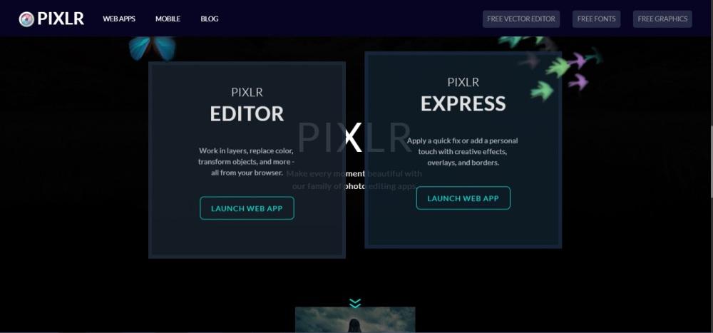Pixlr editor_Pixlr express