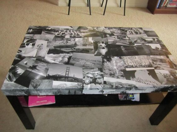 photo collage table