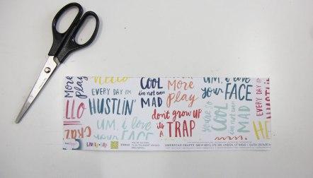 Cut out scrapbook paper