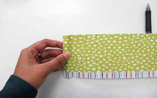 Fold of cut scrapbook paper